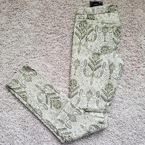 Joe's Green Patterned Pants